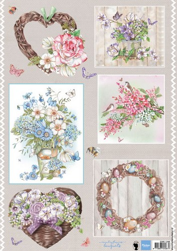 Knipvel Marianne Design - Country Flowers 2
