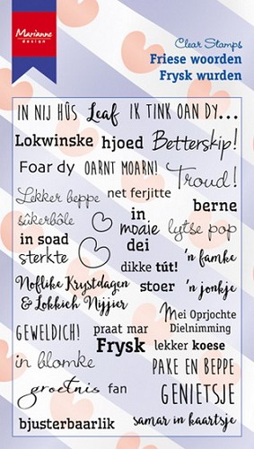 Clearstamps Marianne Design - Friese woorden