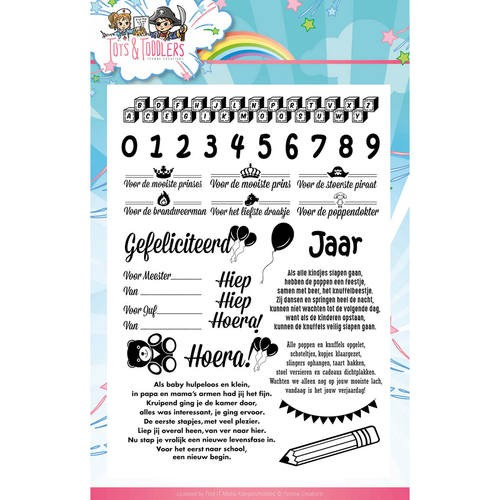 Yvonne Creations Clearstamps - Tots and Toddlers (tekst)