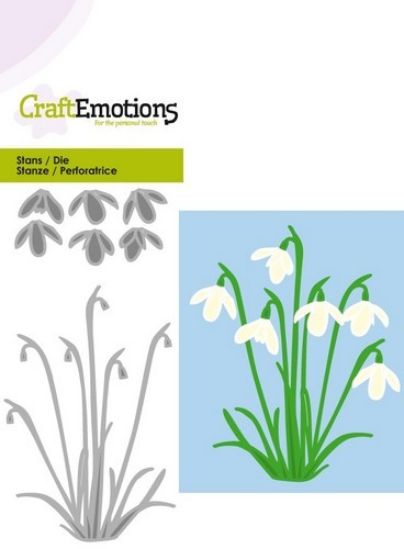 Craft Emotions Stans - sneeuwklokjes