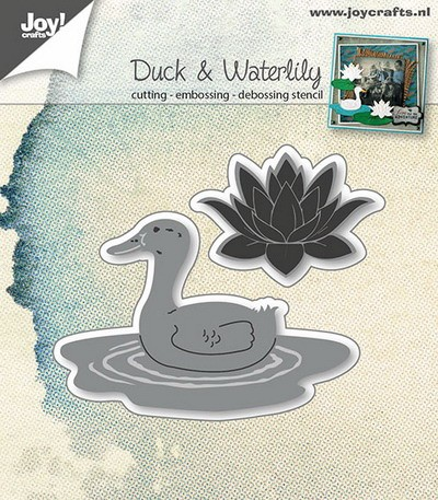 Joy Stencil - Duck & Waterlily