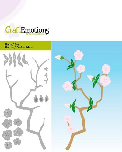Craft Emotions Stans - branch with blossoms