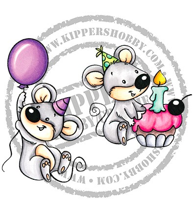 Clearstamps CC Designs - Birthday Mice