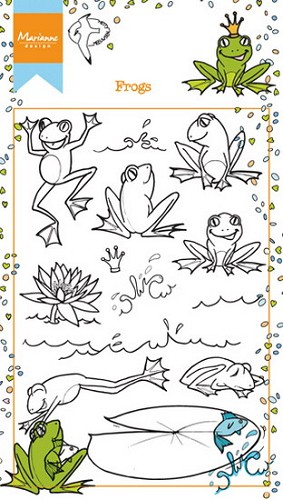 Clearstamps Marianne Design - Hetty`s Kikkers