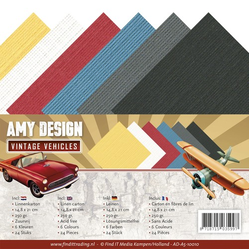 Linnenkarton Amy Design - Vintage Vehicles (A5)