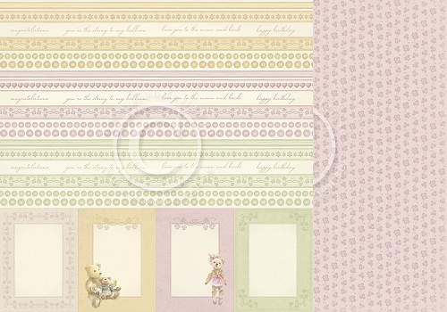 Scrappapier Pion Design - Theodore and Bella - Borders