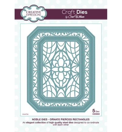 Creative Expressions Stans - Noble Dies - Ornate Pierced Rectangles