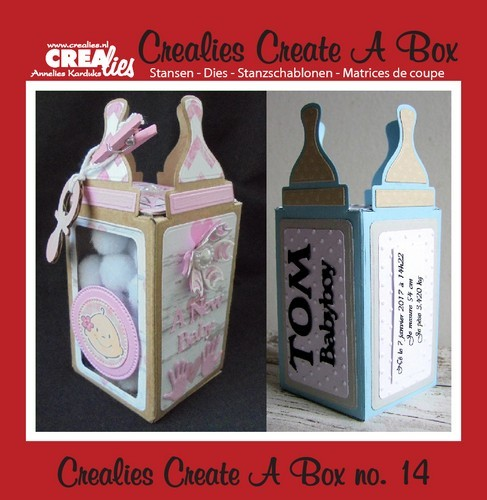 Crealies Stans - Create a Box - zuigfles