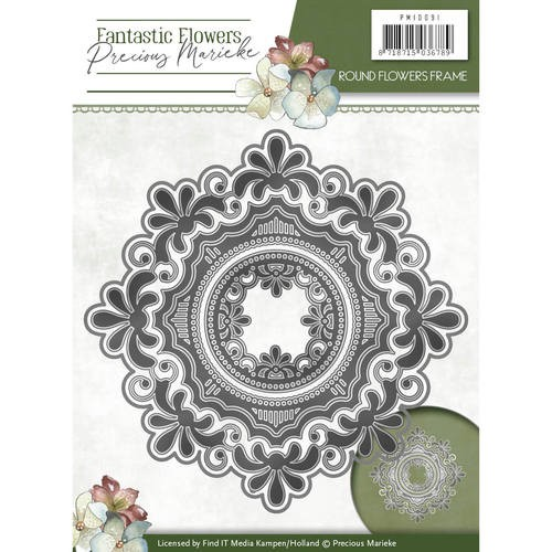 Precious Marieke Stans - Fantastic Flowers - round flowers frame