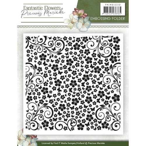 Precious Marieke Embossing Folder - Fantastic Flowers