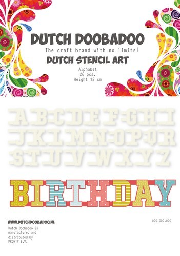 Dutch Doobadoo Stencil Set - A-Z