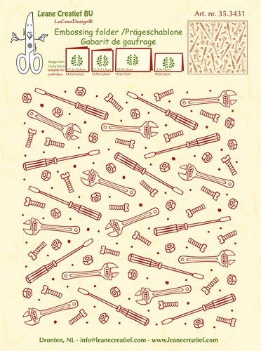 Embossing Folder Leane Creatief - Background Tools