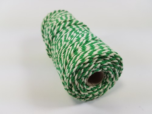 Twine 3 mm - groen/wit