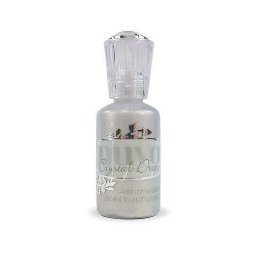 Nuvo Crystal Drops - metallic silver lining