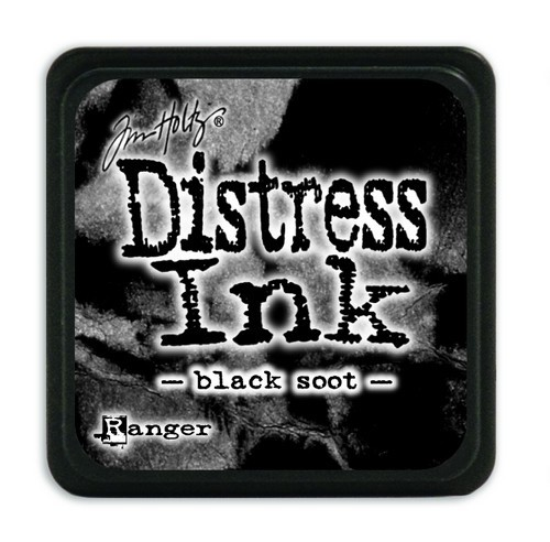 Ranger Distress Mini Ink Pad - black soot
