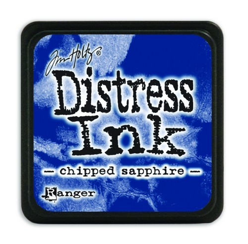 Ranger Distress Mini Ink Pad - chipped sapphire