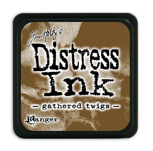 Ranger Distress Mini Ink Pad - gathered twigs