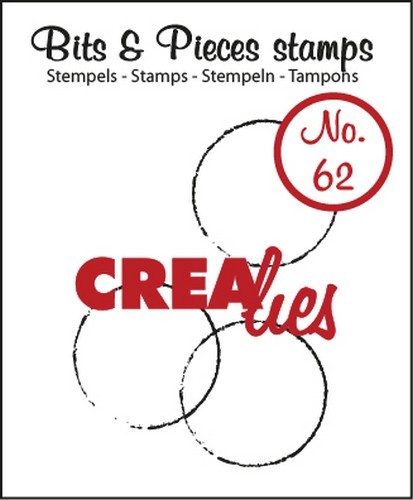Clearstamp Crealies - Bits & Pieces nr. 62