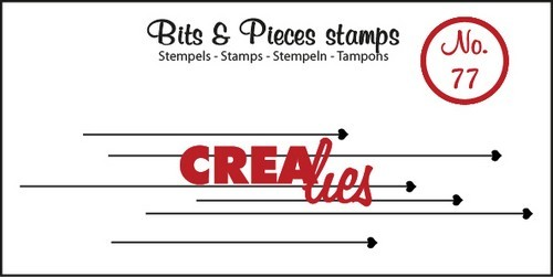 Clearstamp Crealies - Bits & Pieces nr. 77