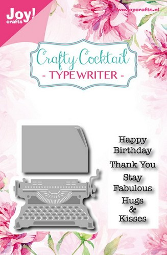 Joy Stempel met Mal - Crafty Cocktail - typewriter