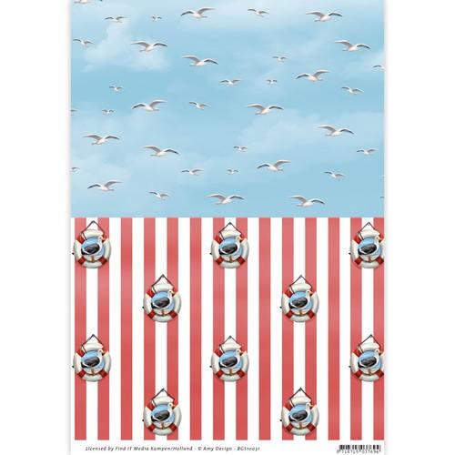 Background Sheet Amy Design - Maritiem BGS10031