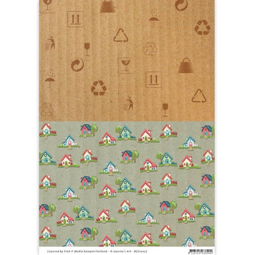 Background Sheet Yvonne Creations - Moving Madness BGS10027