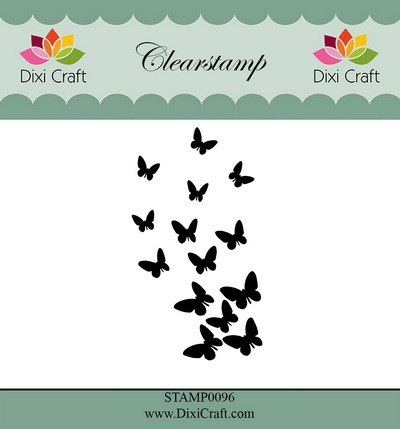 Dixi Craft Clearstamp - butterfly burst