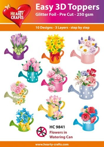 Easy 3D Toppers - Flowers in Watering Can