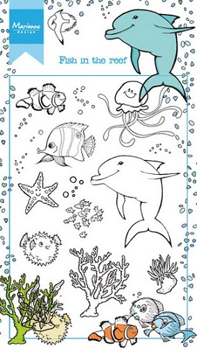 Clearstamps Marianne Design - Fish in the Reef