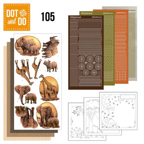 Dot & Do Hobbydots Pakket - Wild Animals