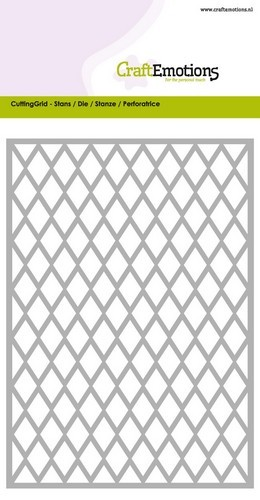 Craft Emotions Stans - Cutting Grid - diamond