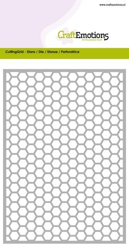 Craft Emotions Stans - Cutting Grid - honeycomb