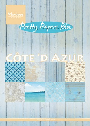 Pretty Papers Bloc - Cote d`Azur