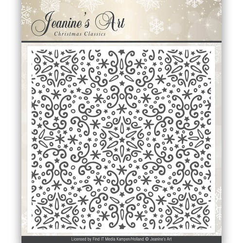 Embossing Folder Jeanine`s Art - Christmas Classics JAEMB1001