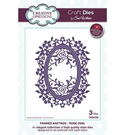 Creative Expressions Stans - Frames and Tags - Rose Oval