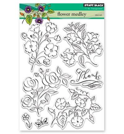 Penny Black Clearstamps - Flower Medley