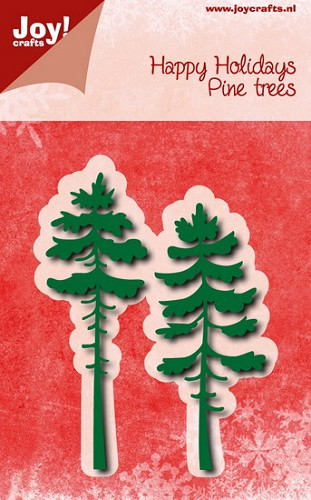 Joy Stencil - Happy Holidays - Pine Trees