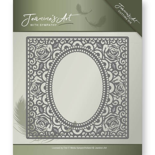 Jeanine`s Art Stans - With Sympathy - rose frame
