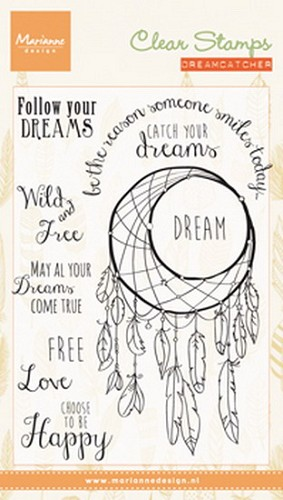 Clearstamps Marianne Design - dreamcatcher sentiments