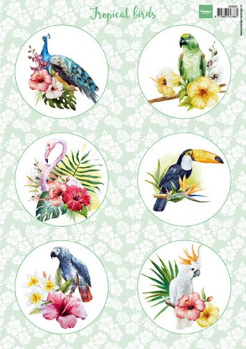 Knipvel Marianne Design - Tropical Birds