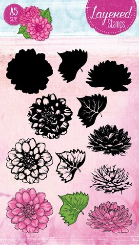 Studio Light Layered Clearstamps 19 - chrysant