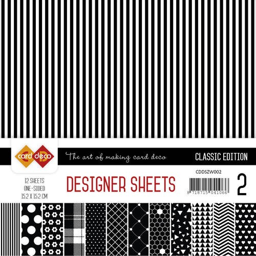 Card Deco Designer Sheets - Classic Edition - zwart