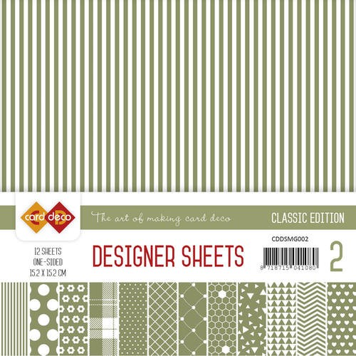 Card Deco Designer Sheets - Classic Edition - mosgroen