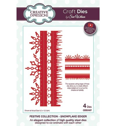 Creative Expressions Stans - Festive Collection - Snowflake Edger