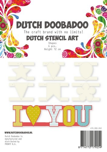 Dutch Doobadoo Stencil - Stencil Art - Shapes