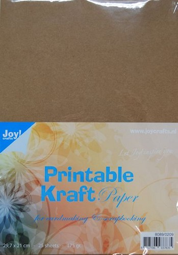 Joy Crafts Printable Kraft Paper