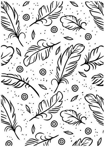 Embossing Folder Nellie Snellen - veren