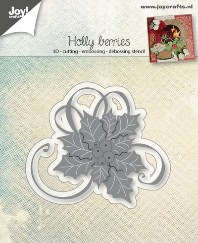Joy Stencil - Holly Berries
