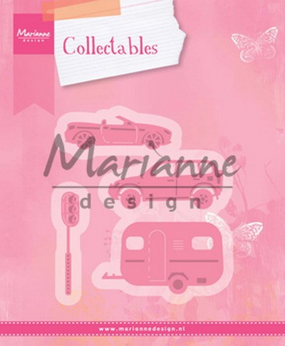 Collectables Marianne Design - village decoration set cars