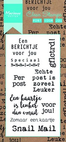 Clearstamps Marianne Design - Post voor jou